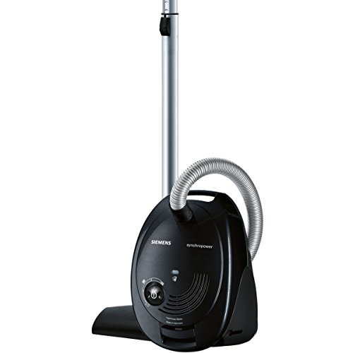 Siemens Synchropower - Aspirador con bolsa, 4 L, 600 W, color negro
