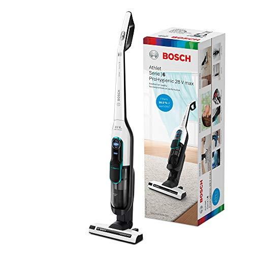 Bosch Serie 6 Athlet ProHygienic Aspirador sin Cables, 3 Velocidades, Blanco