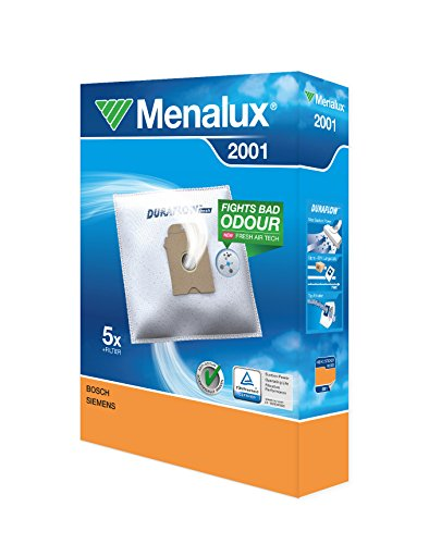 Menalux 2001 - Pack de 5 bolsas sintéticas y 1 filtro para aspiradoras Bosch Arriva, Siemens y Ufesa AS y Mousy