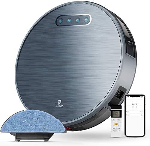 LEFANT Robot Aspirador y Fregasuelos y 3 Horas de autonomía 4500MAH WiFi con 2200 Pa,aplicación doméstica Google/Alexa/Control Remoto Ideal Podrías Cambiar lo de alfombras Cortas de Animales M571