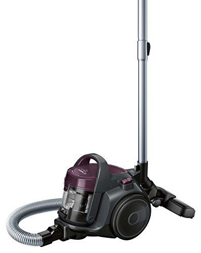Bosch Hogar BGC05AAA1 Aspirador sin Bolsa, Diseño Ultra-Compacto, Filtro HEPA H12 Lavable, 700 W, 1.5 litros, 78 Decibelios, Plástico/Metálico/Acero Inoxidable, Violeta/Gris