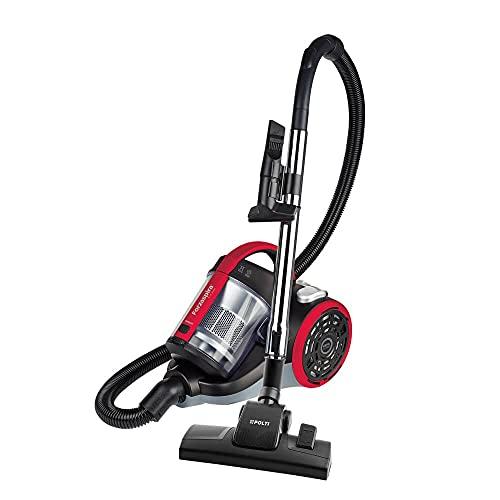 Polti Forzaspira C110_Plus Aspirador cicónico sin bolsa, 2 litros capacidad depósito de recogida, 800 W, 80 Decibelios, rojo/negro